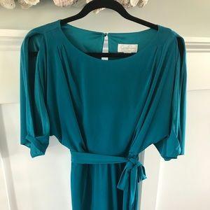 Jessica Simpson teal/blue cold shoulder dress